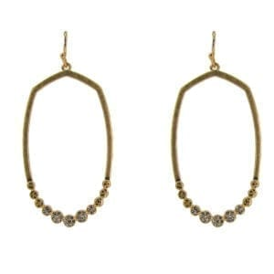 pair of earrings with rows of small beads