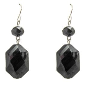 earrings with black crystals
