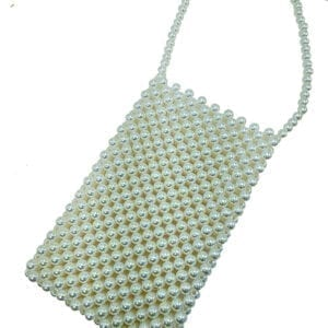pouch made of woven pearls