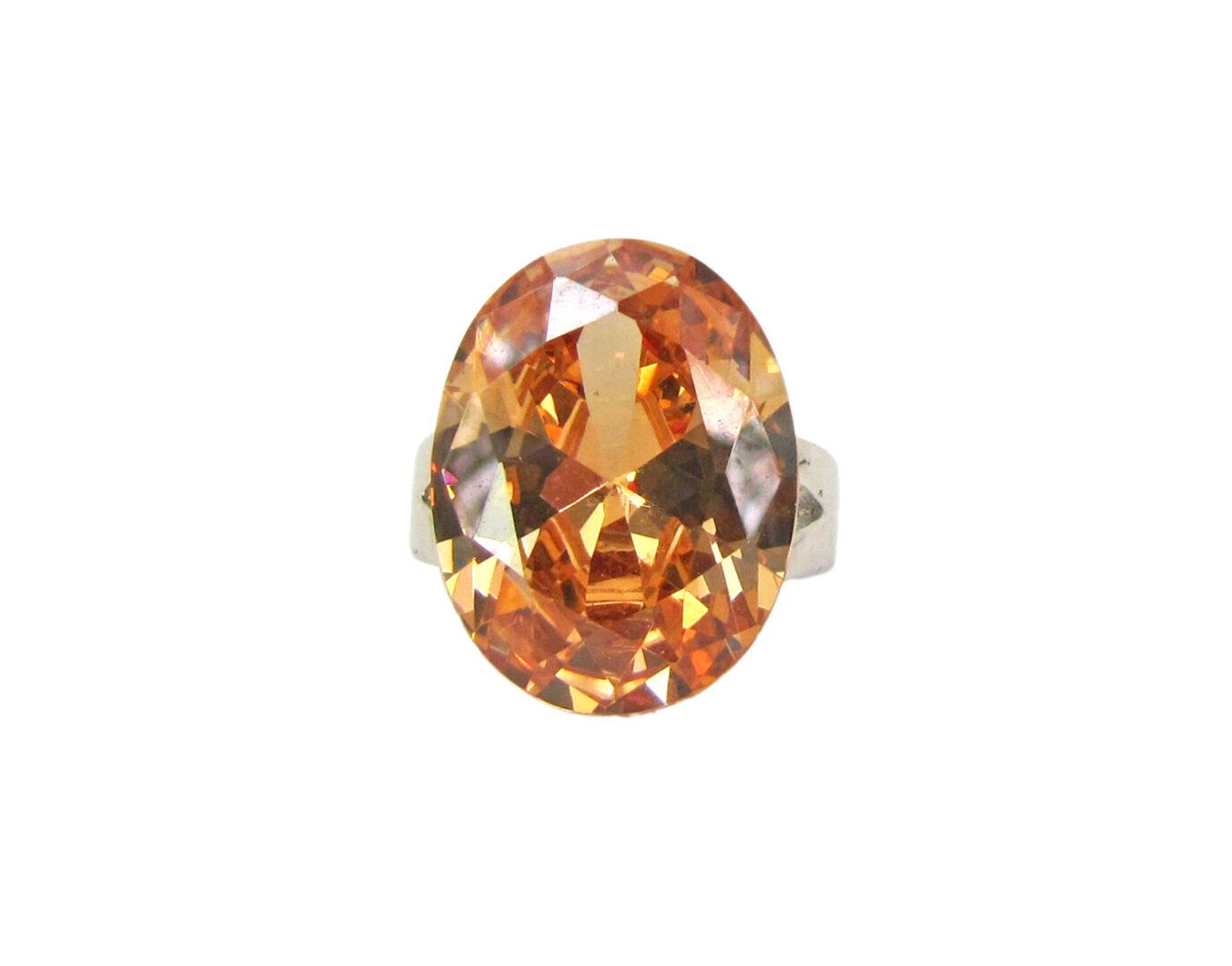 orange gem ring