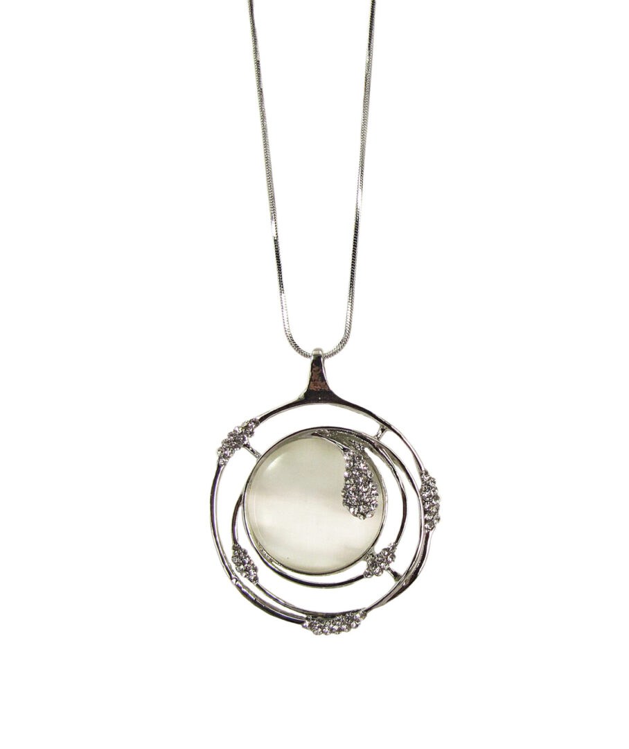 necklace with pearly gem inset