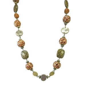 necklace with multi-colored beads