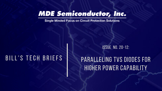 Paralleling TVS Diodes for Higher Power Capability