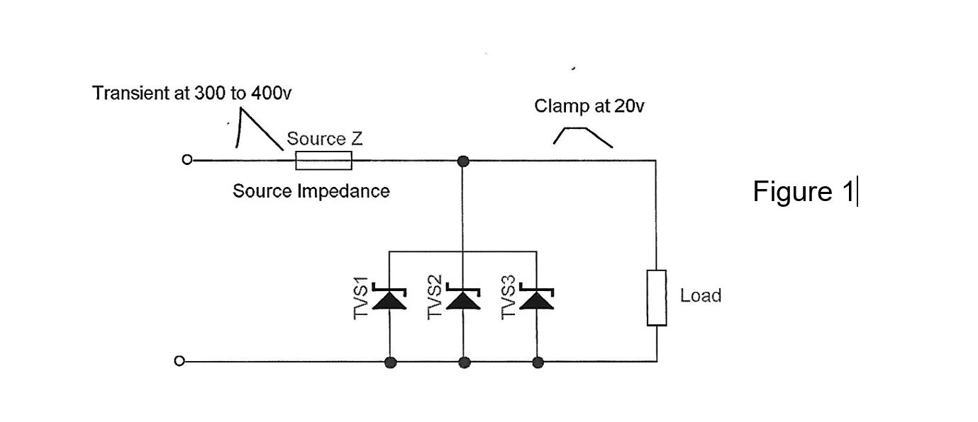 diagram of tvs diodes in series