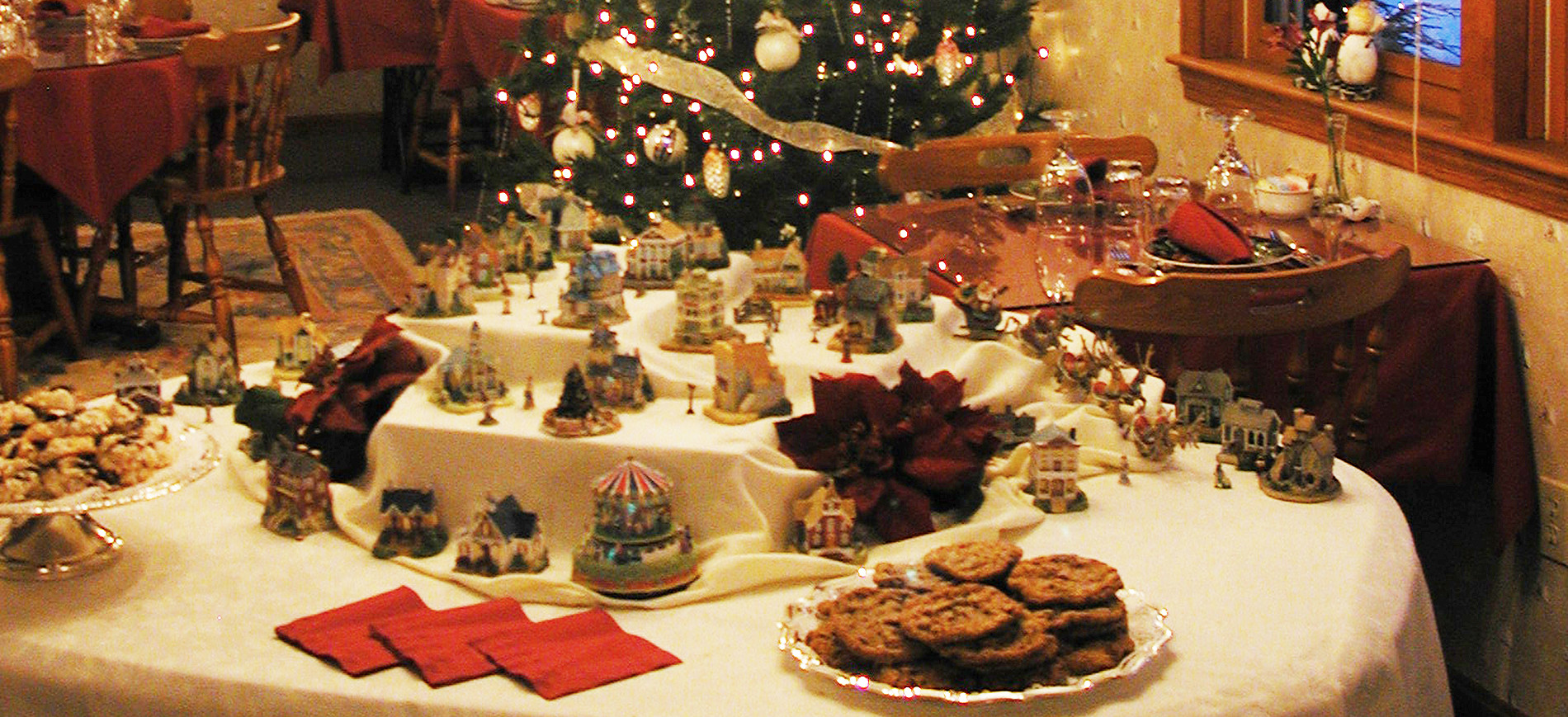 Cookie Tour display with miniature village