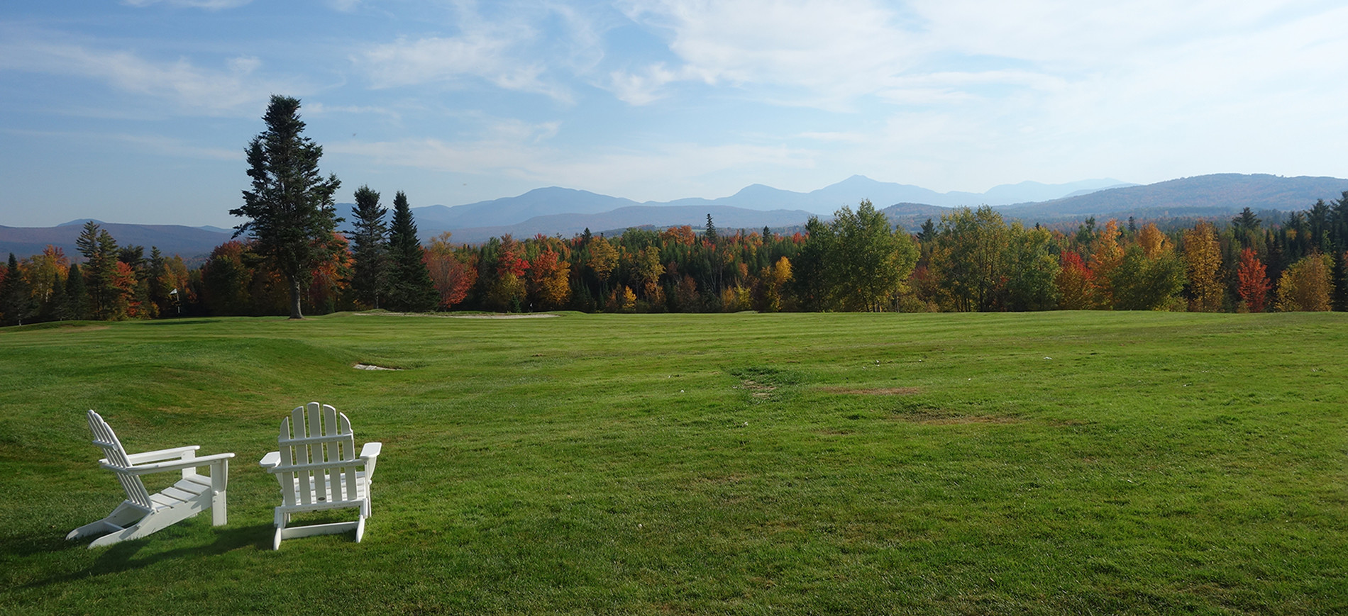 Foliage View with Adirondack chairs from Mtn View Grand