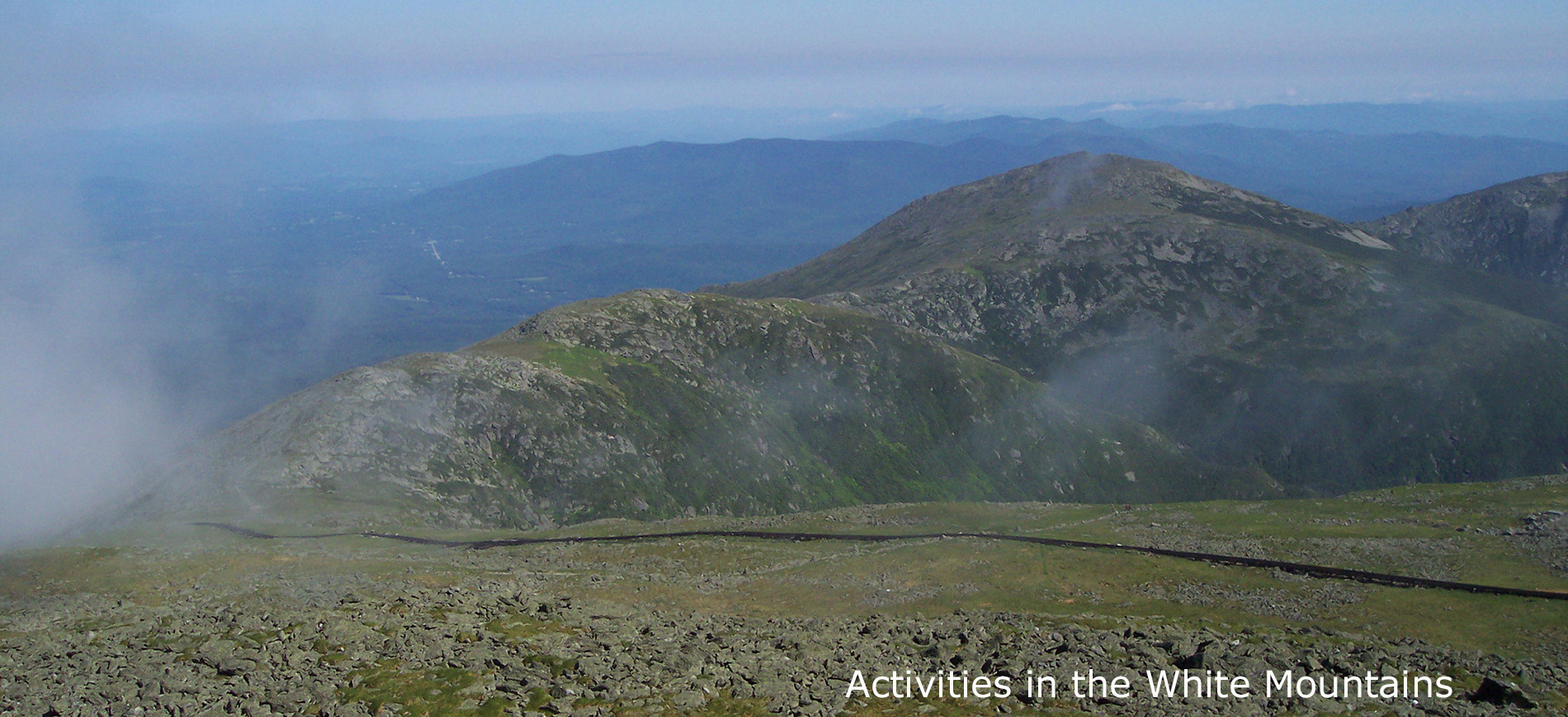 View from top of Mt Washington ~ Activities in the White Mountains