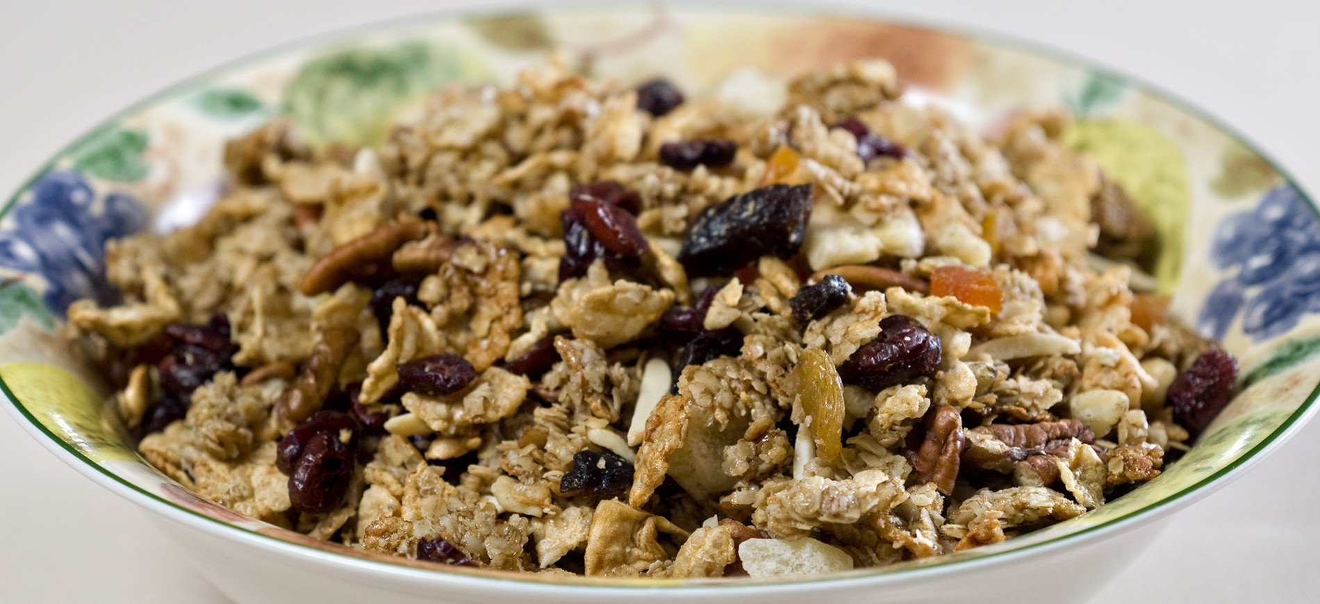 Serving bowl of granola