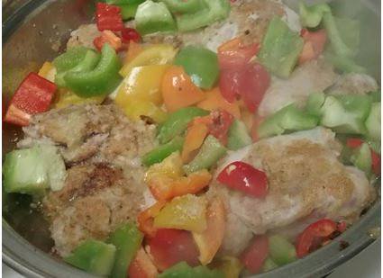 chicken and mixed peppers