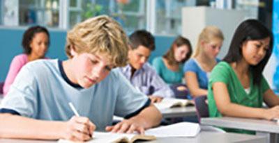 Adolescents in Classroom