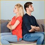 divorce basics, unhappy couple