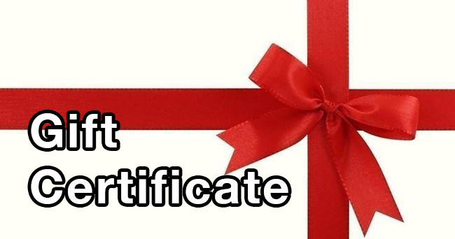 Gift Certificates And Packages