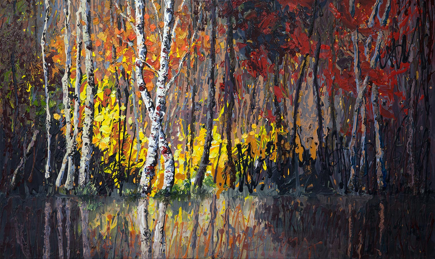 Forest's-Edge, Niki Gulley, Dallas, contemporary impressionist, tree painting