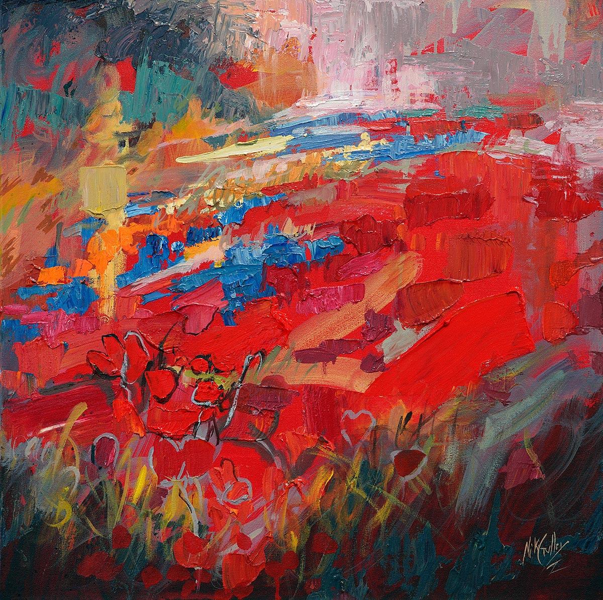 contemporary impressionist, dallas texas artist, Bluebonnet, Niki Gulley paintings