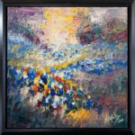 Texas, contemporary impressionist, dallas texas artist, blue bonnets, Niki Gulley paintings