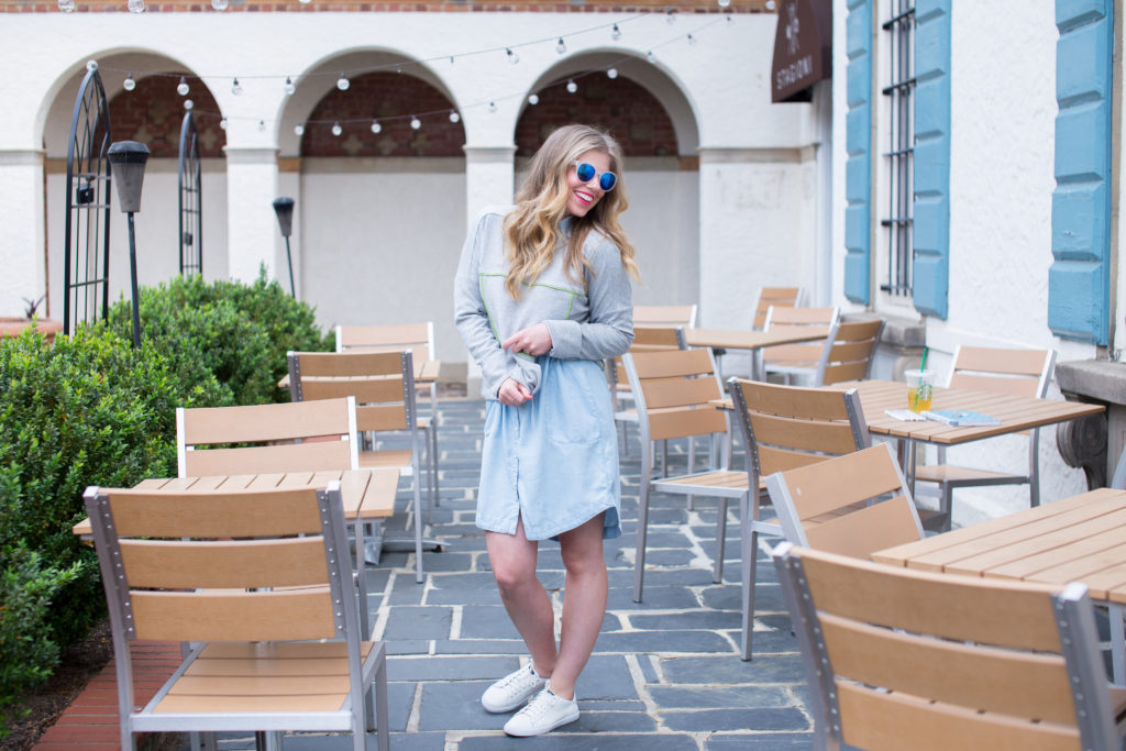 Louella Reese Chambray Shirt Dress // Weekend Coffee Date Style