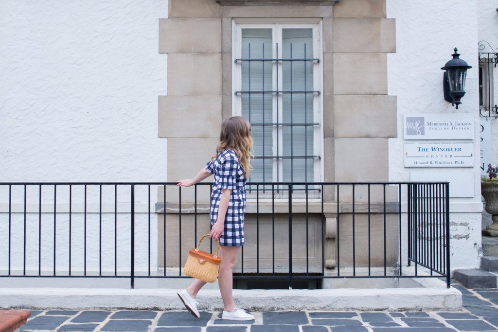Louella Reese Plaid Dress + Basket Bag // Memorial Day Style