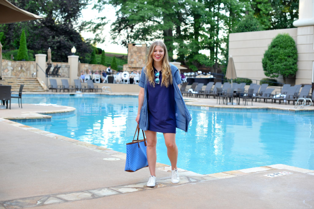 Louella Reese Casual T-Shirt Dress // Casual Summer Style