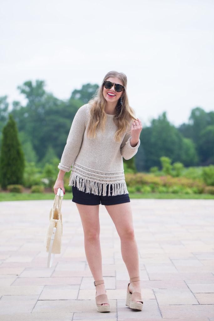 Louella Reese Fringe Sweater // Festival Style