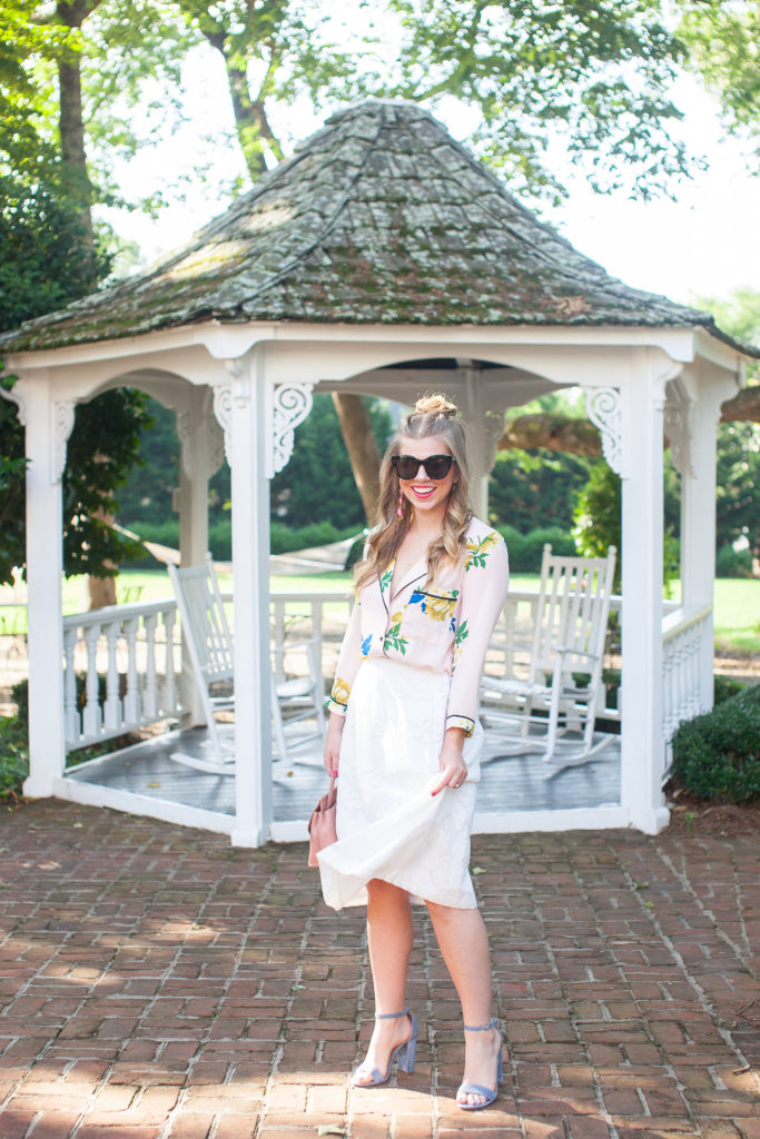 Floral Pajama Shirt   Louella Reese   Charlotte Life & Style Blog