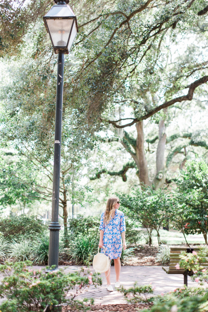 Floral Shirt Dress // Savannah Historic District // Louella Reese Life & Style Blog