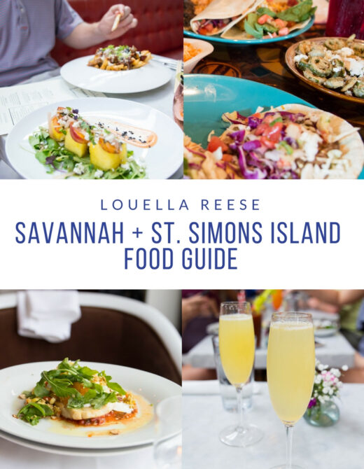 Savannah + St Simons Island Food Guide // Louella Reese Life & Style Blog
