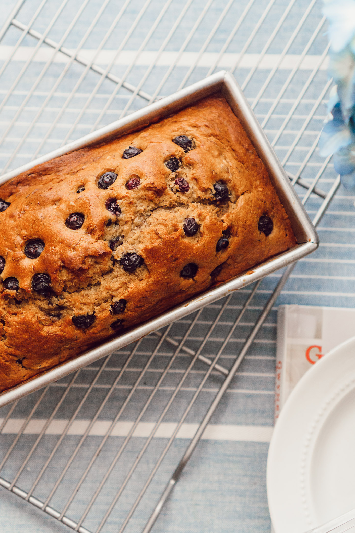 Healthy Blueberry Banana Bread featured by Louella Reese Life & Style Blog #bananabread #healthybananabread