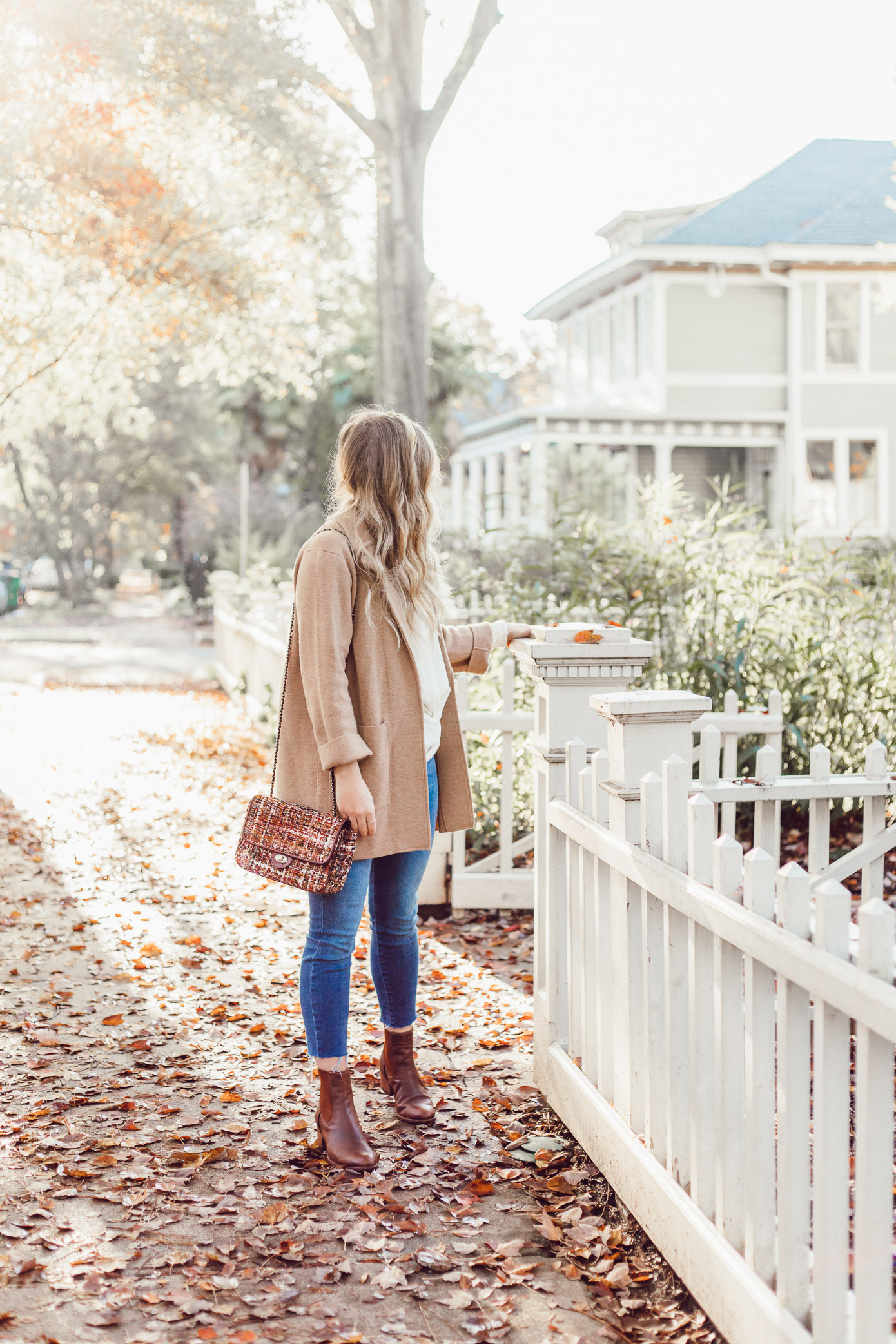 What to Wear to Friendsgiving   Knotted Front Waffle Top, Casual Sweater Blazer featured on Louella Reese