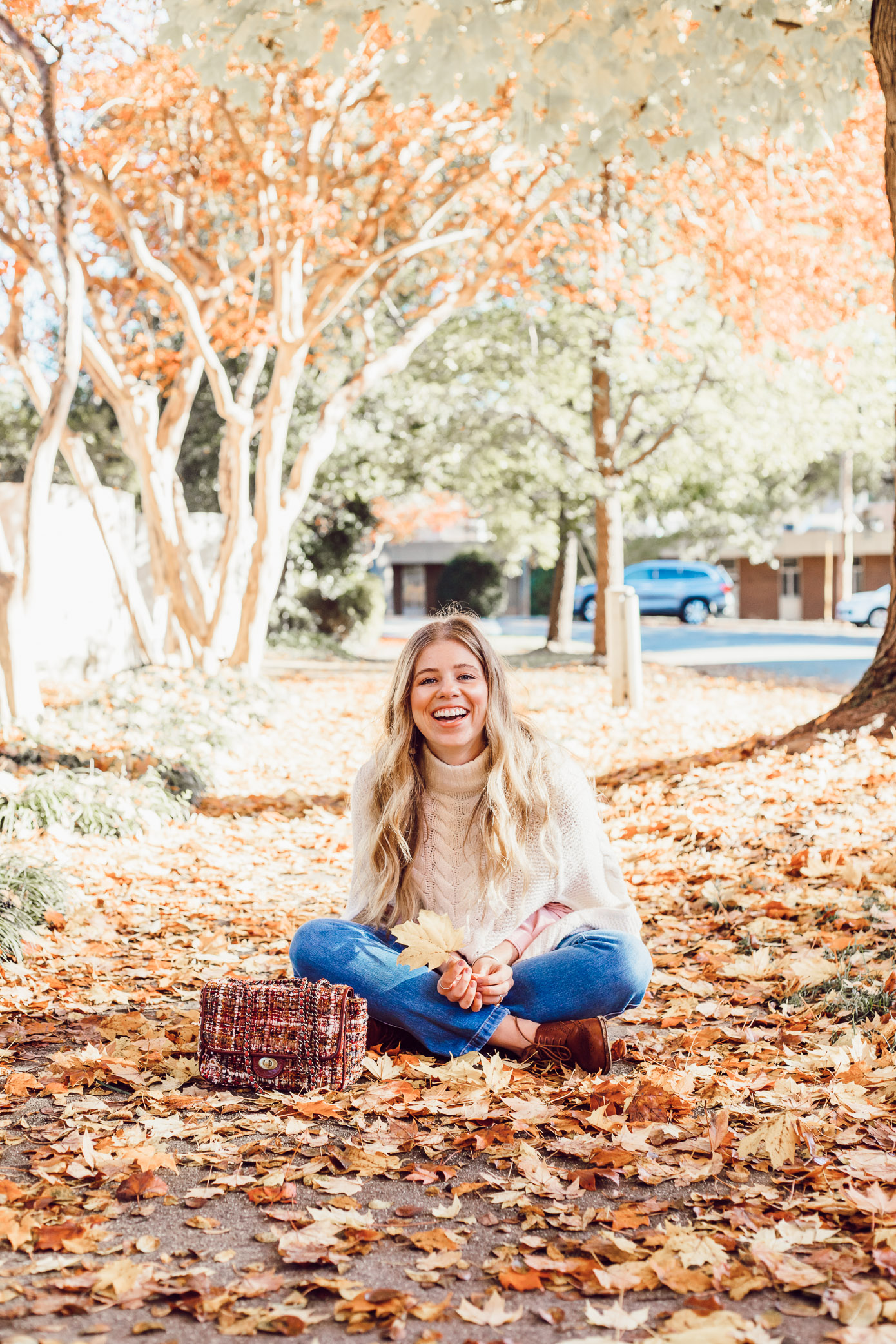 An Outfit That Will Hide Your Thanksgiving Food Baby | Ivory Sweater Poncho styled on Louella Reese Life & Style Blog
