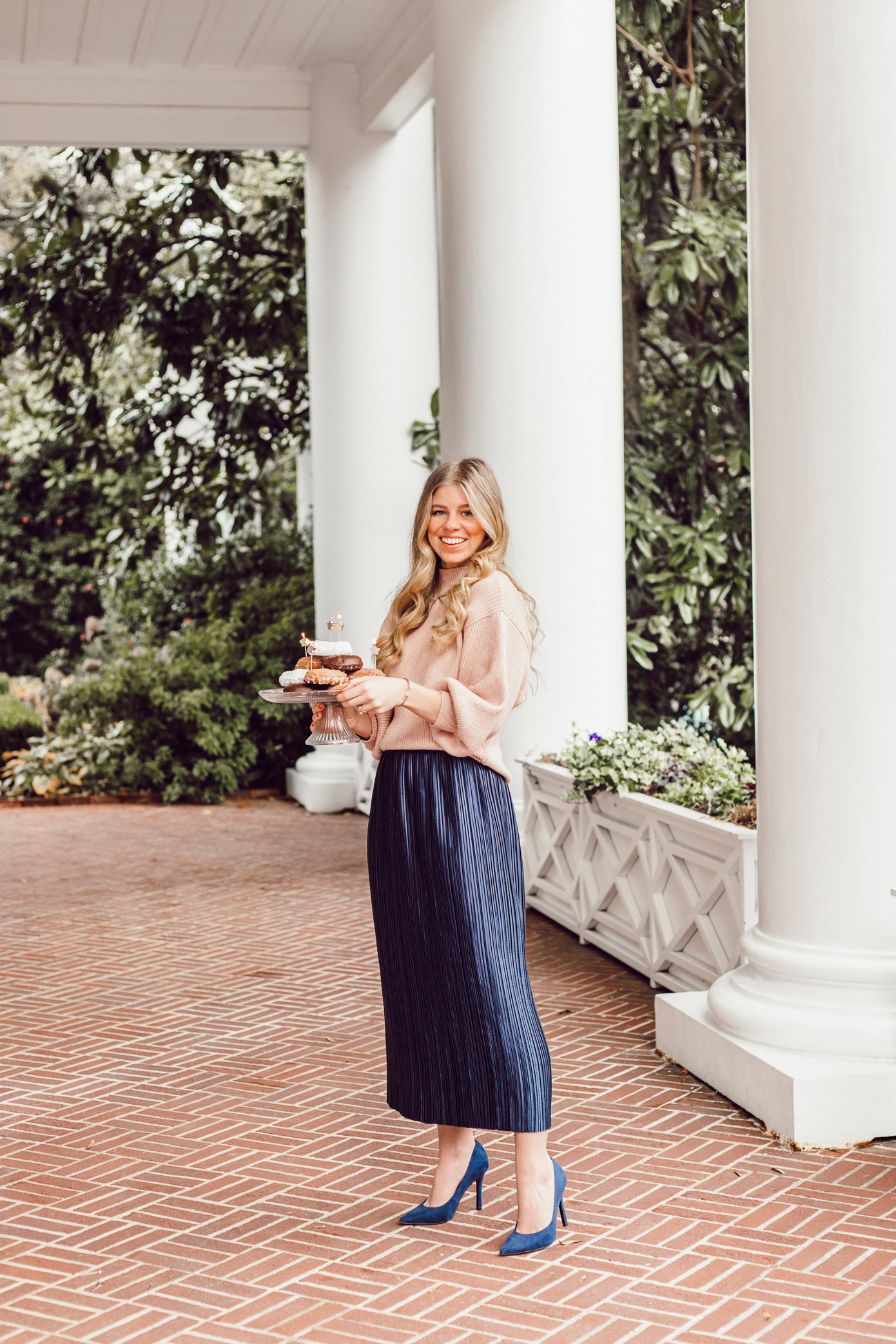 29 Life Lessons Learned featured on Louella Reese Blog for her 29th Birthday   Tibi Plissé Midi Skirt, Line and Dot Blush Cropped Sweater