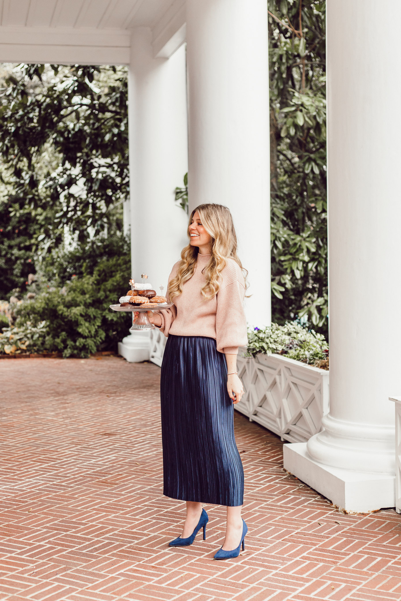 29 Life Lessons Learned featured on Louella Reese for her 29th Birthday   Tibi Plissé Midi Skirt, Line and Dot Blush Cropped Sweater