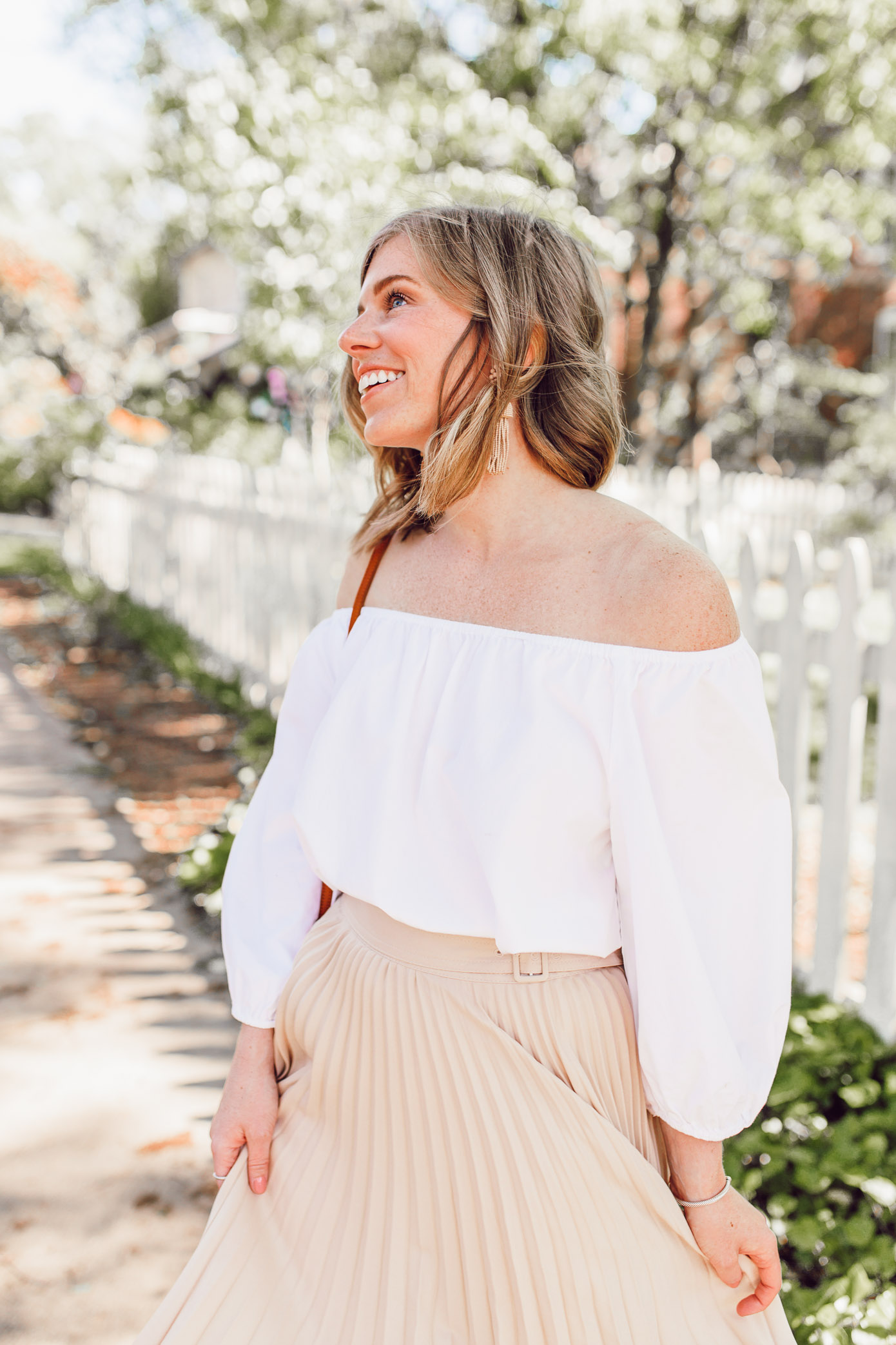 Tips for how to style and wear off the shoulder tops   ft. Chicwish, Lisi Lerch   Louella Reese