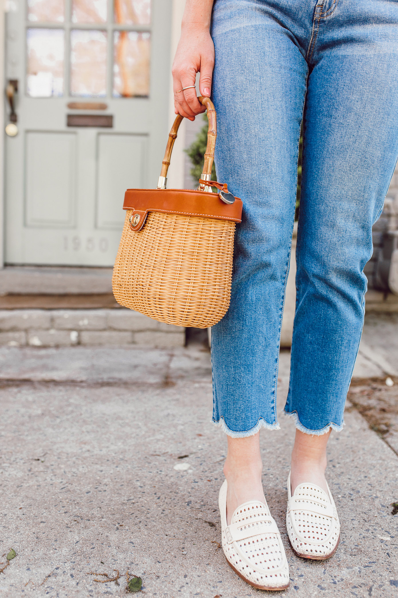 Scalloped Hem Jeans   Jeans for Spring 2019   Louella Reese
