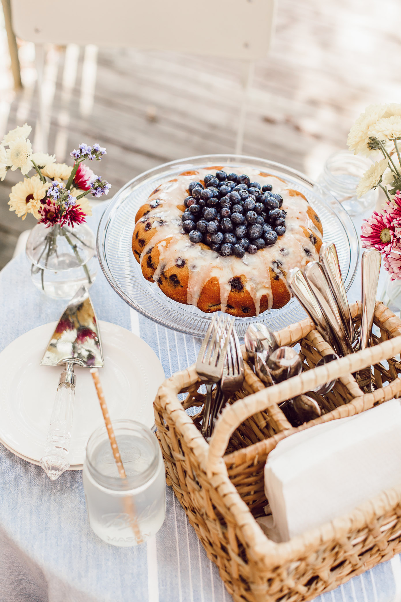 Fourth of July Desserts | 4th of July Dessert | Easy Blueberry Bundt Cake | Louella Reese