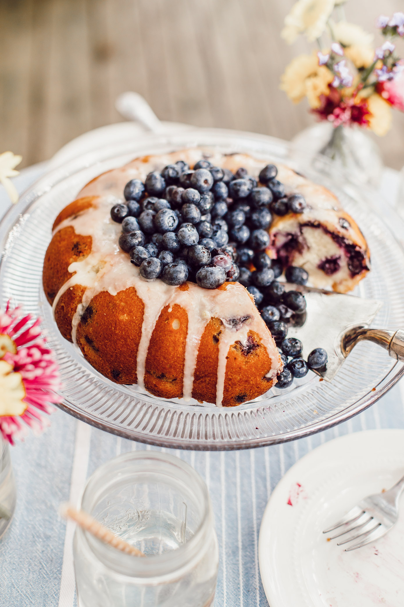 Easy Blueberry Bundt Cake | 4th of July Desserts | Louella Reese