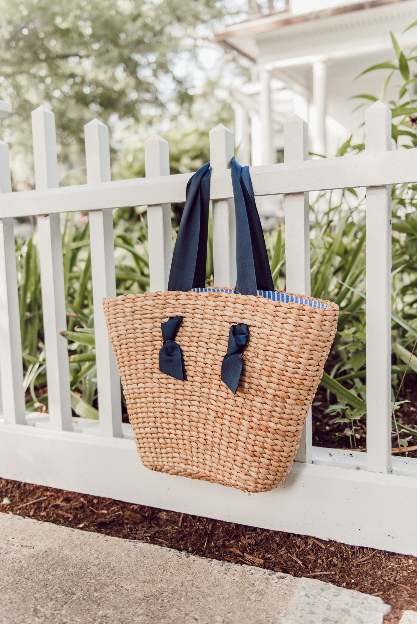 The Prettiest Straw Tote Bag under $50   Louella Reese