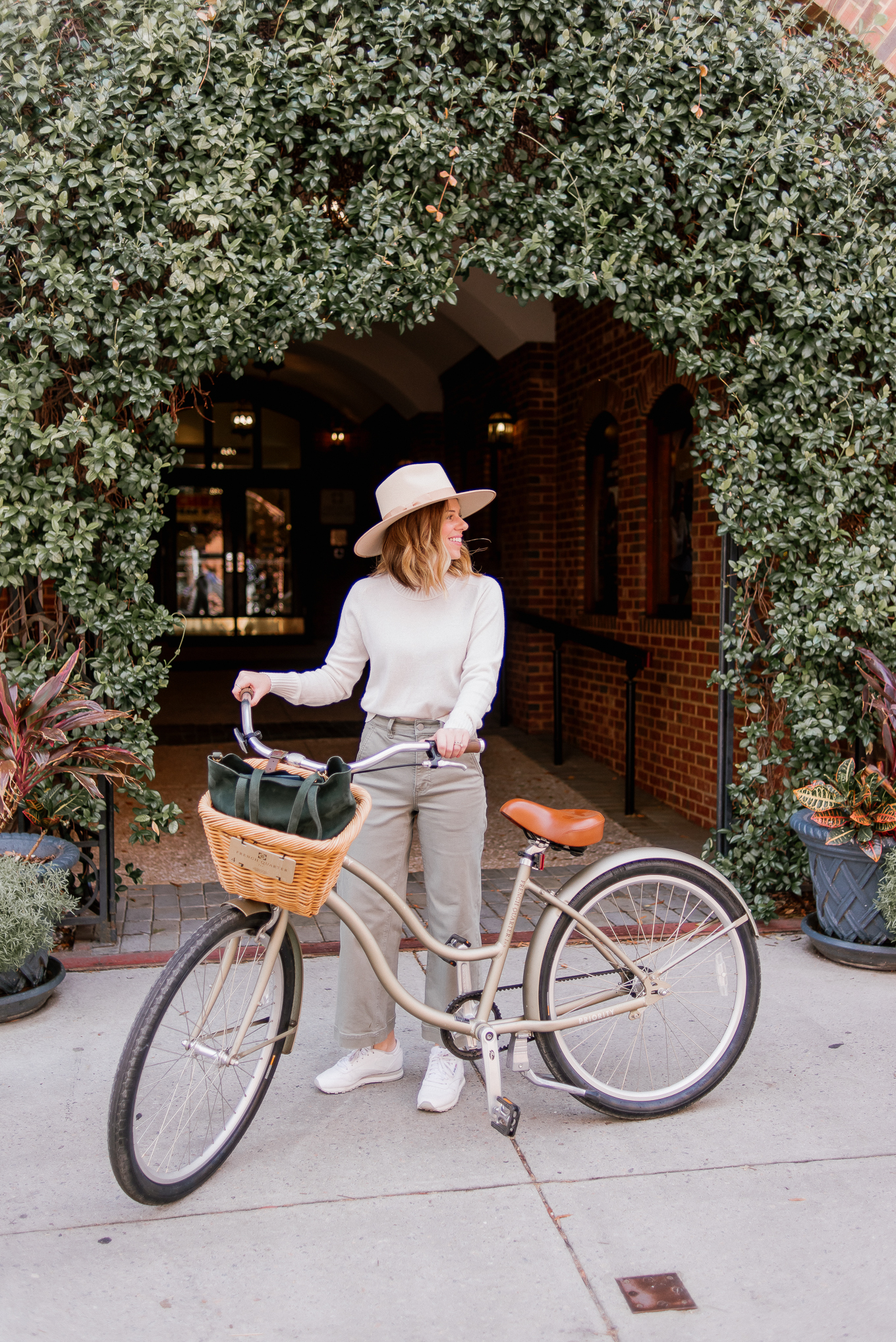 What to Wear to Bike around Charleston | Casual Fall Outfit for Travel | Louella Reese