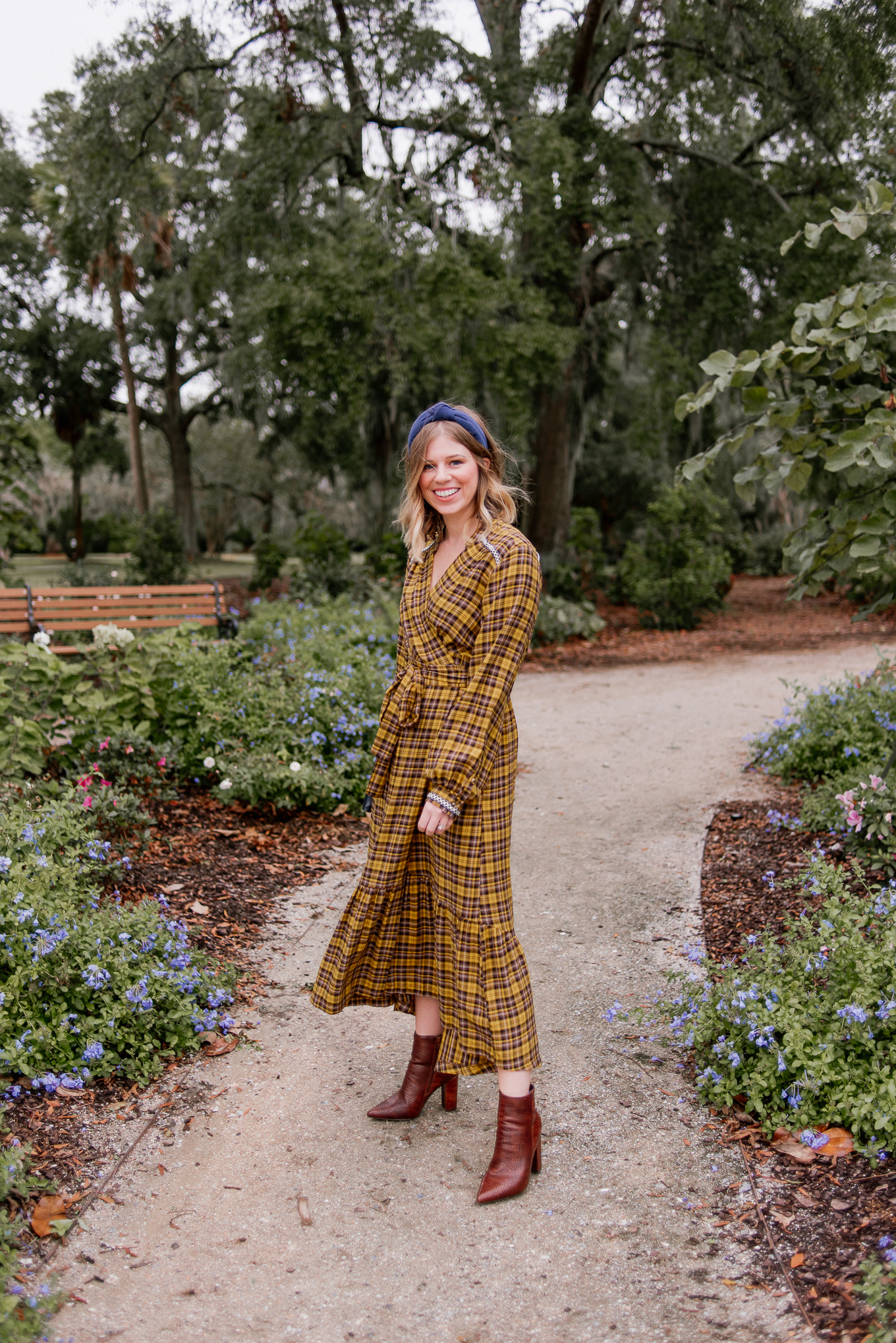 Cute Fall Maxi Dress for All Occasions   Yellow Plaid Maxi Dress   Louella Reese