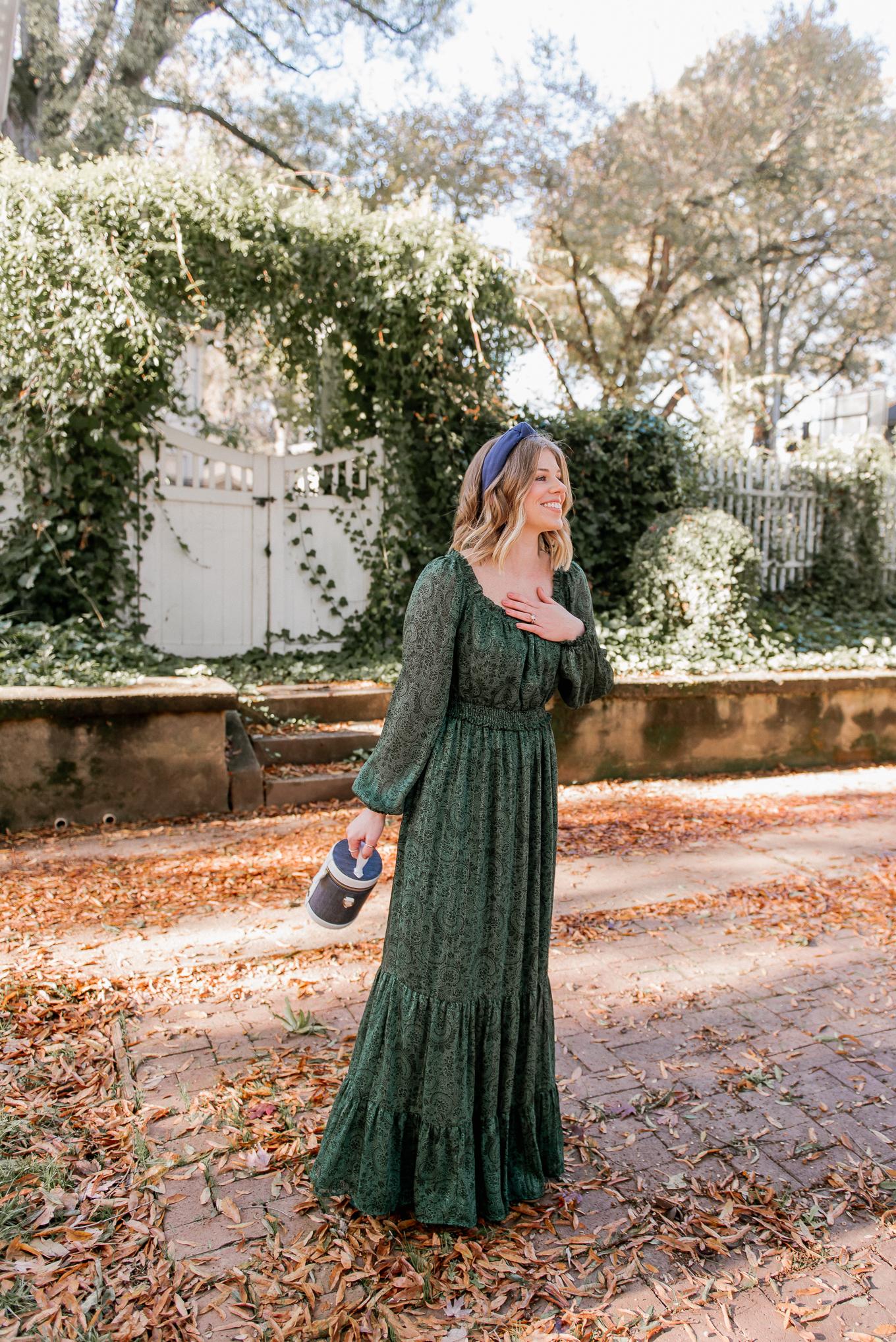 Gal Meets Glam Collection Laurel Dress | Green Winter Maxi Dress | Louella Reese
