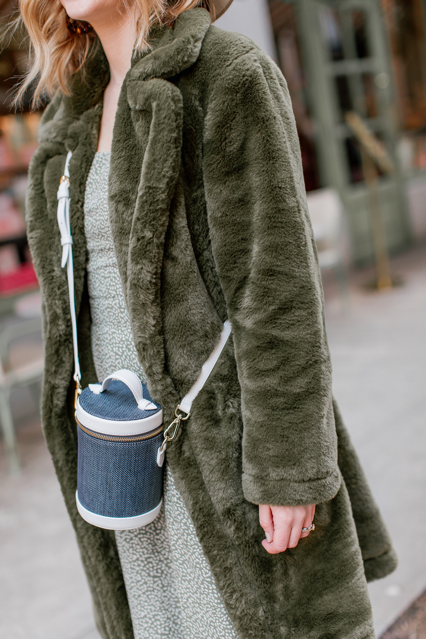 Paravel Capsule Bag, Navy and White Bag | Louella Reese