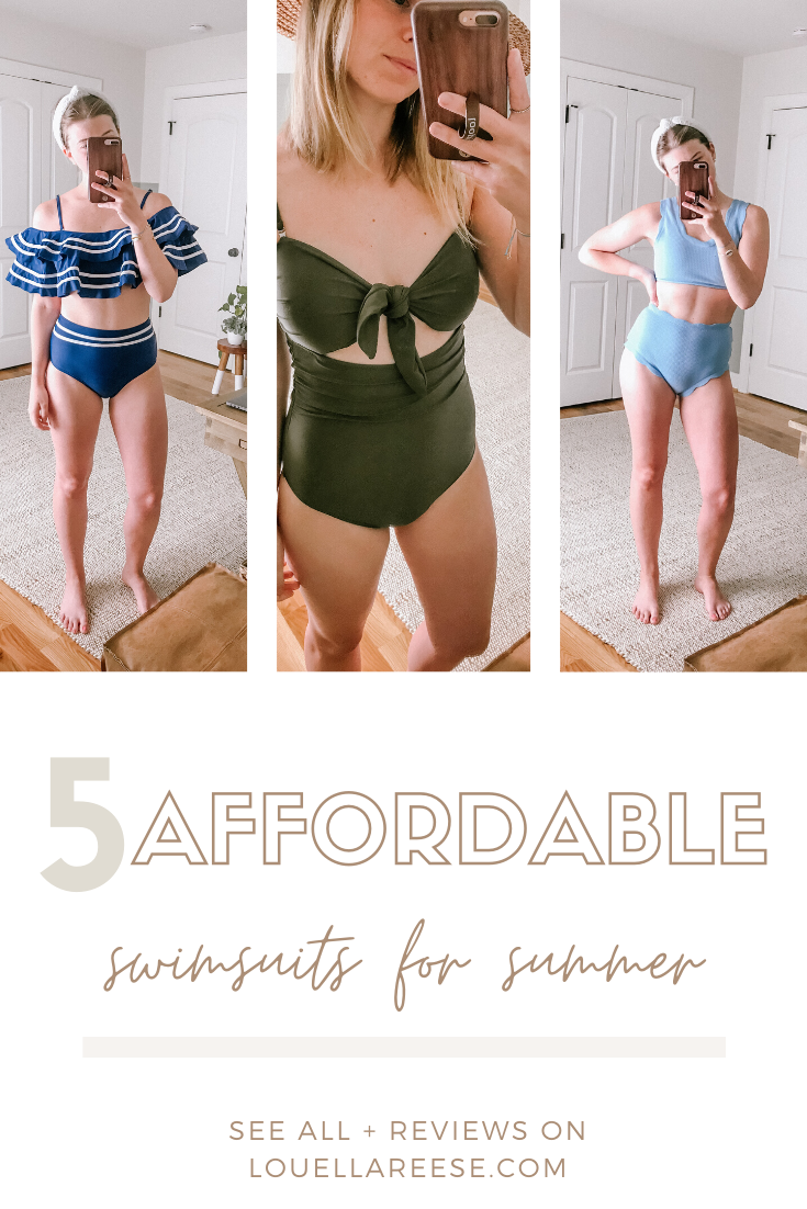 Affordable Swimsuits for Summer - One Piece, High-Waisted, and Bikini | Louella Reese