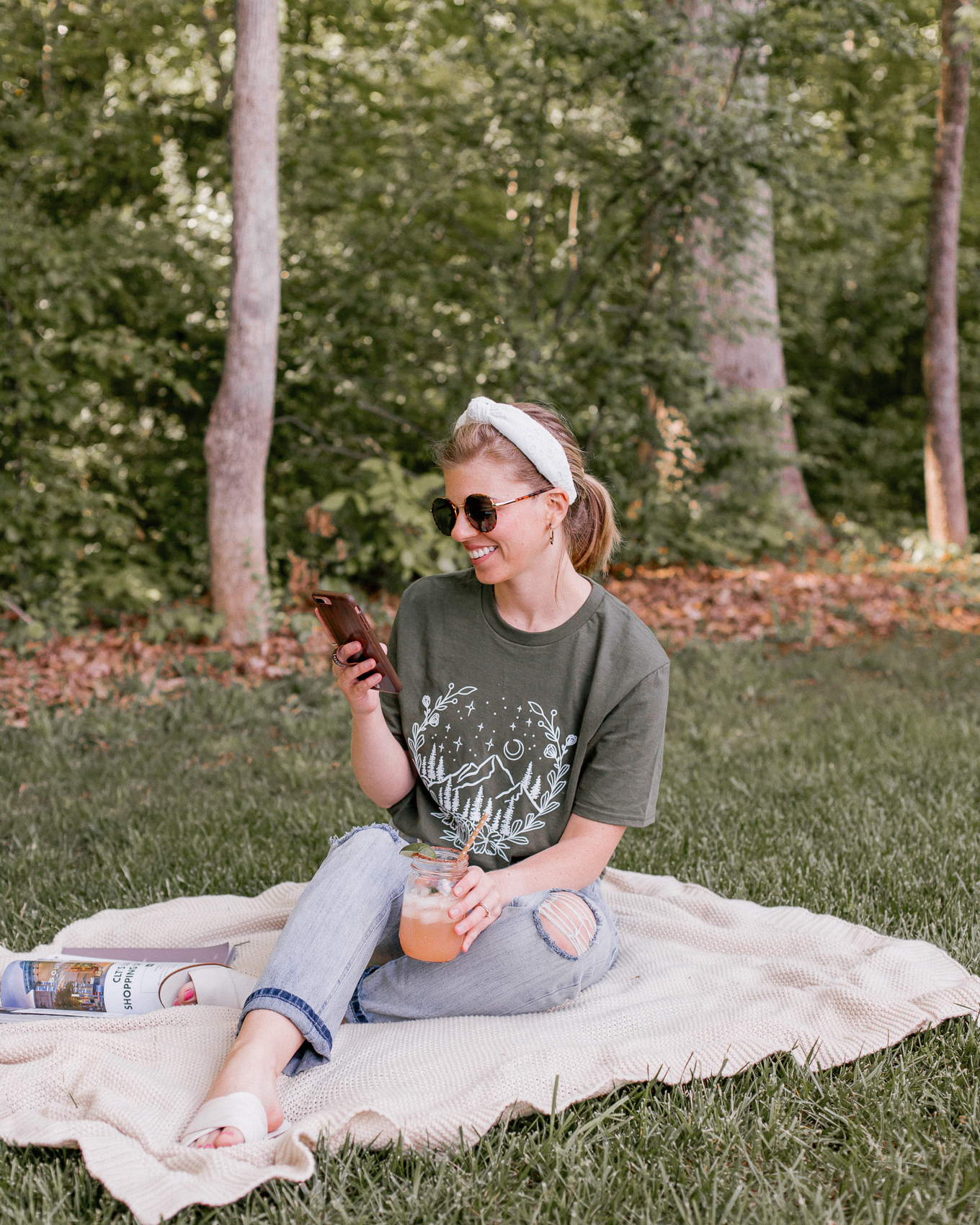 Graphic Tee Style: Five Ways to Style a Graphic Tee for Spring + Summer   Louella Reese
