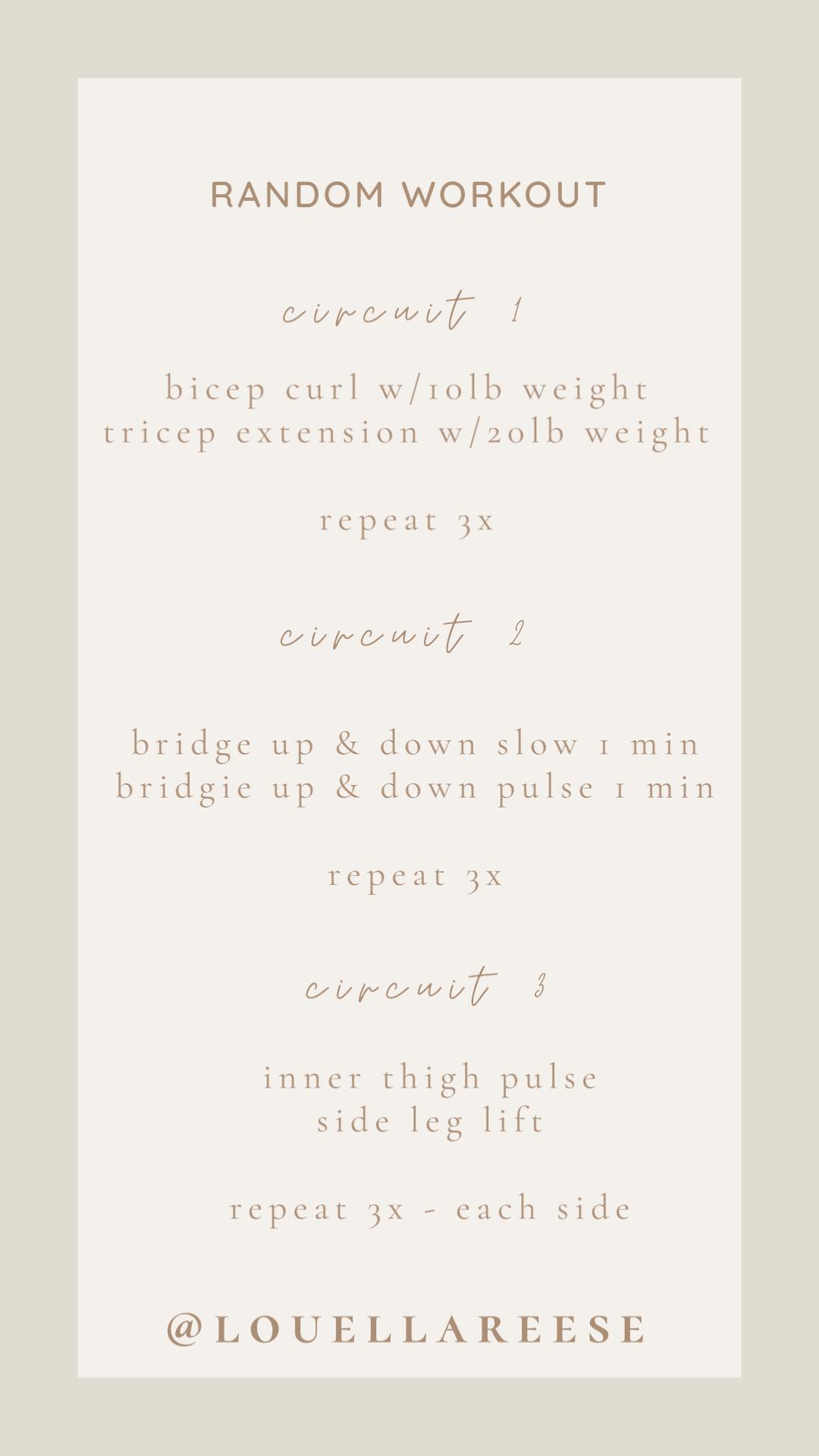 FWTFL Workouts | Louella Reese