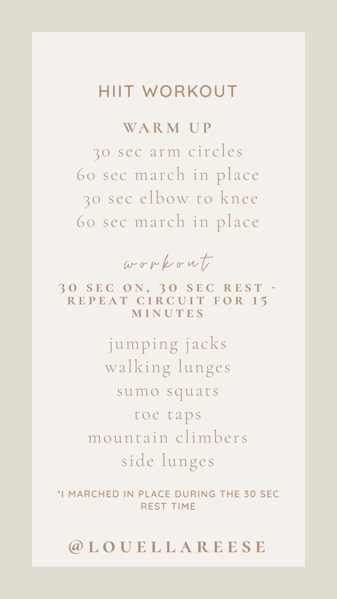 FWTFL HIIT Workouts | Lifestyle | Louella Reese