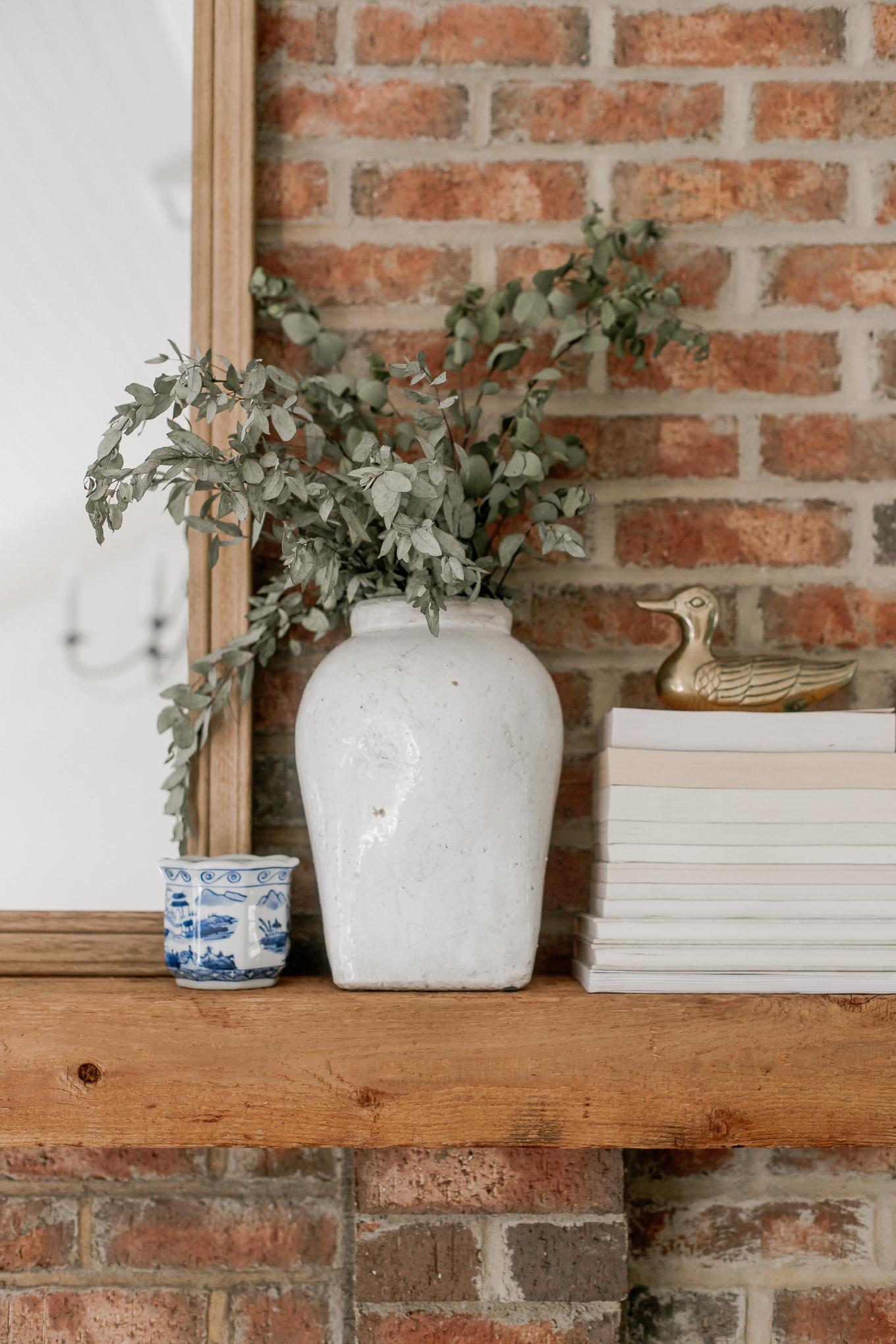 Vintage Inspired Vase, Brass Duck, Mantel Decor | Louella Reese