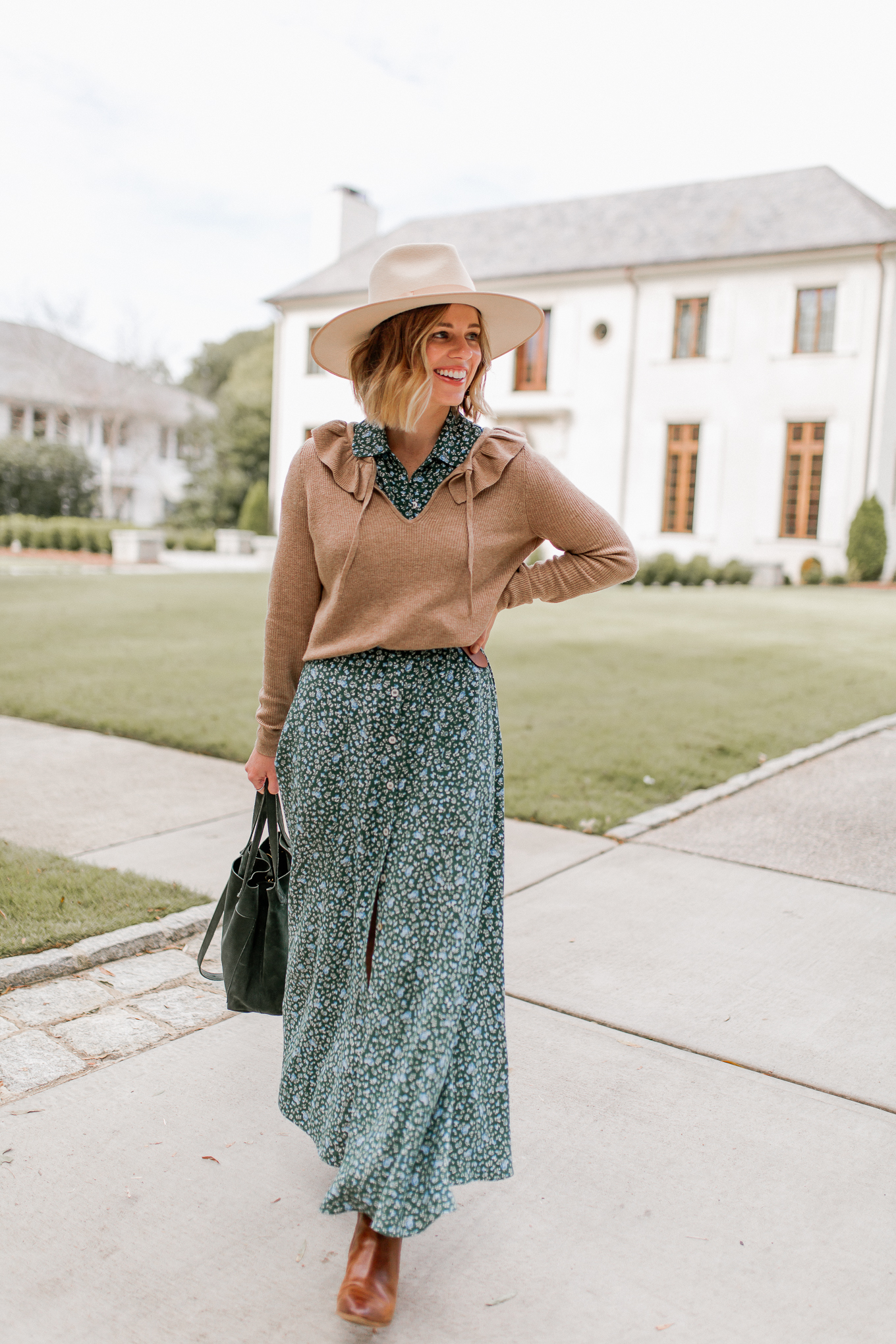 How to Style Maxi Dresses for Fall | Louella Reese