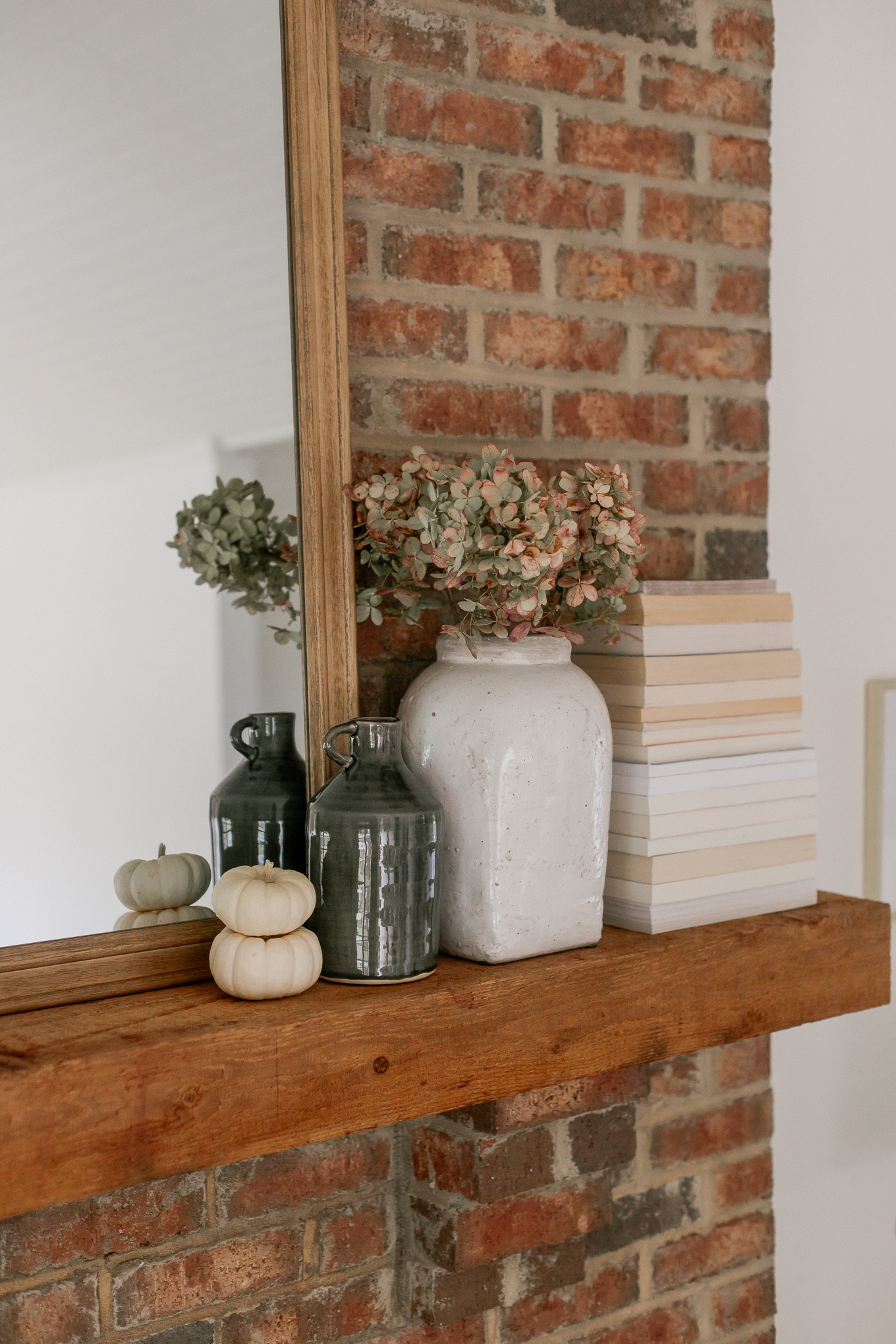 Decorating Your Mantle with Pumpkins | Louella Reese