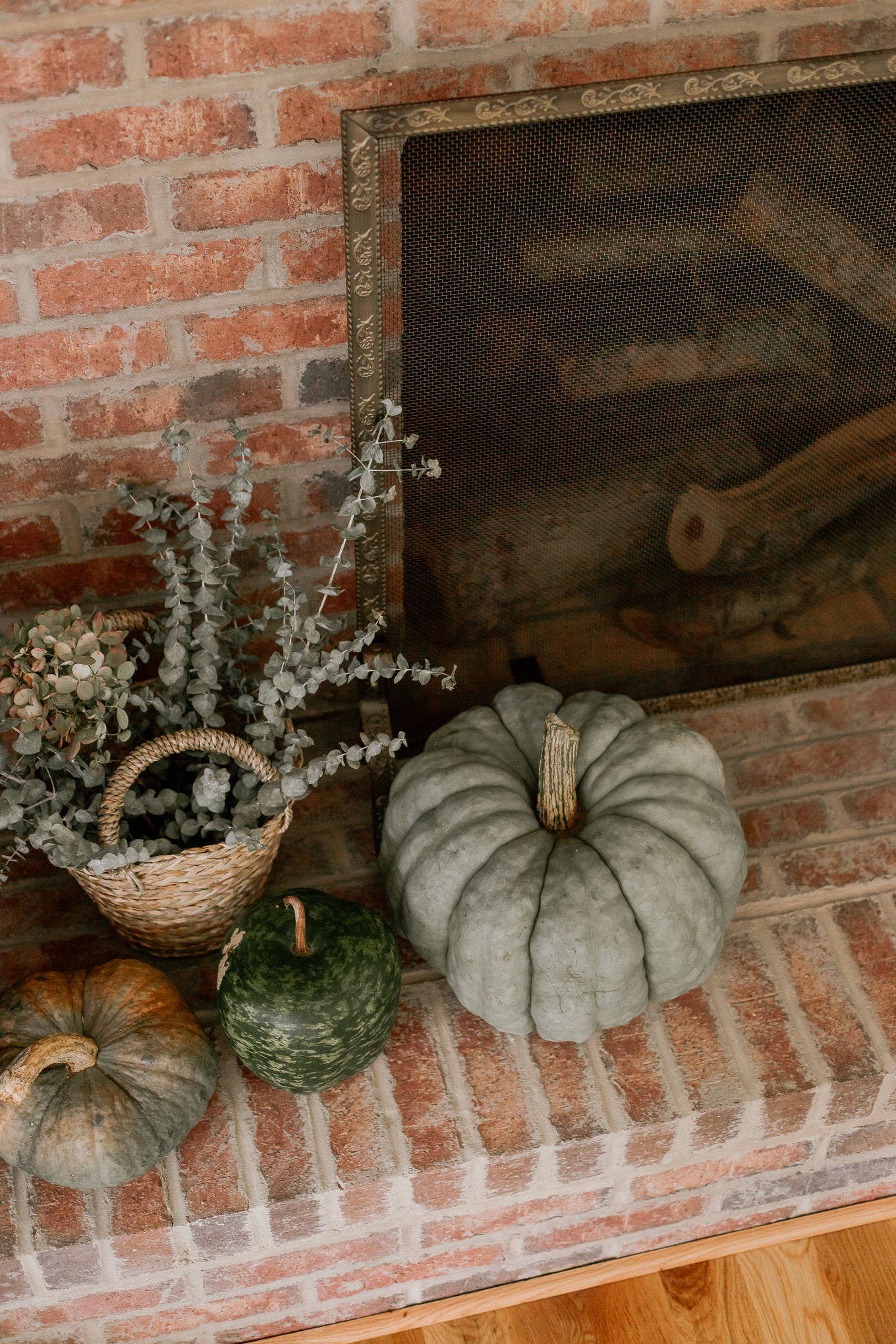 Decorating with Greenery, Fall Mantle | Louella Reese