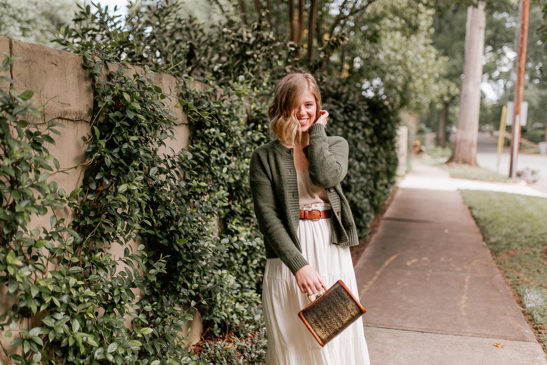 neutral fall outfit idea   Louella Reese