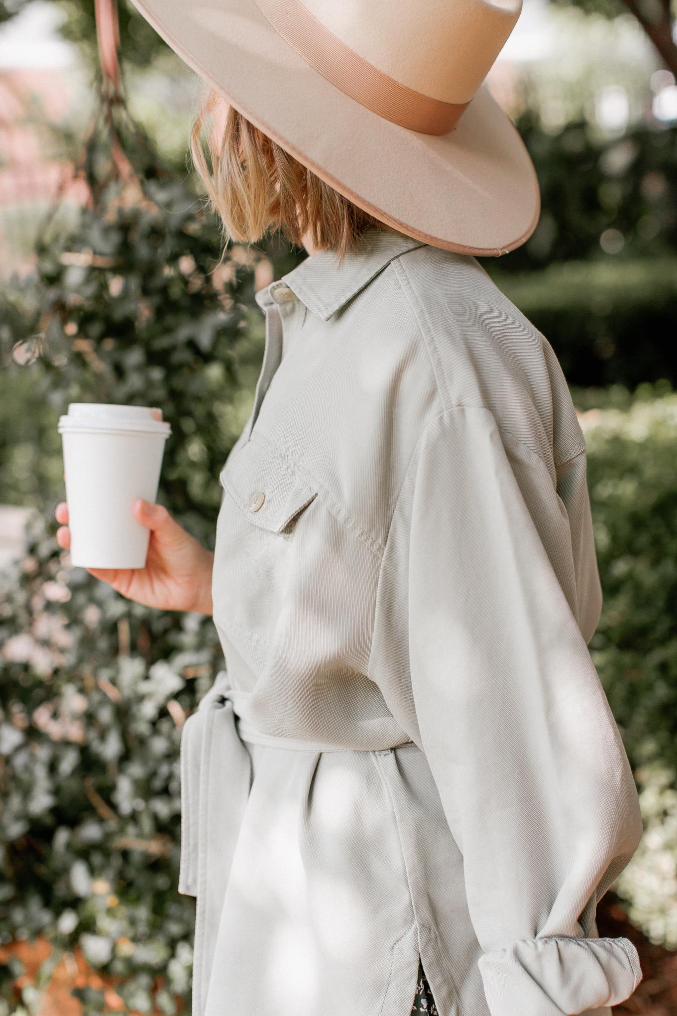 Olive Shacket, Felt Hat | Louella Reese